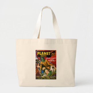 Martian and Earth Girl Large Tote Bag