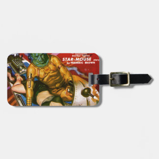 Martian and Earth Girl Luggage Tag