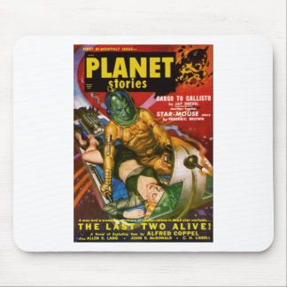 Martian and Earth Girl Mouse Pad