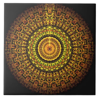 Martian Aztec Mandala Tile