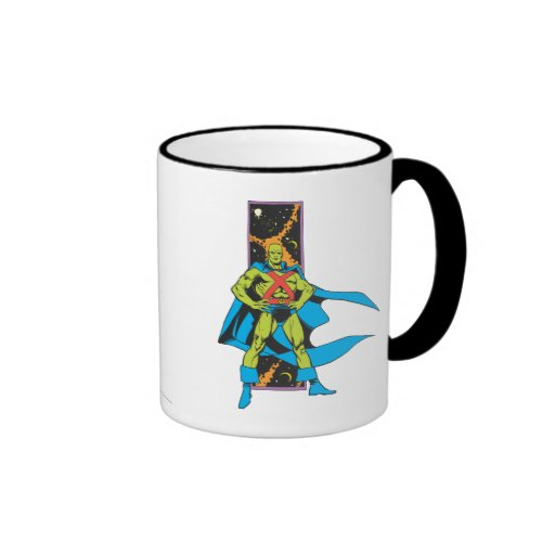 Martian Manhunter & Space Backdrop Coffee Mugs