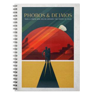 Martian Moons Phobos and Deimos Space Tourism Notebook