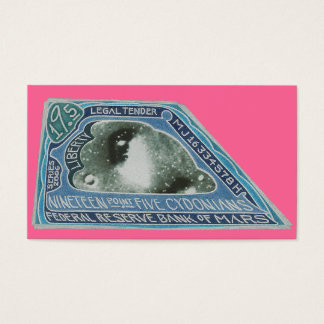 Martian $ Nineteen Point Five Cydonians Note GIFS Business Card