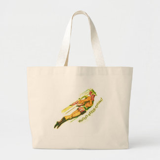 Martian Victory yell Large Tote Bag