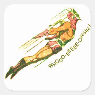 Martian Victory yell Square Sticker