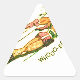 Martian Victory yell Triangle Sticker