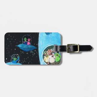 Martians and Cows Luggage Tag