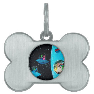 Martians and Cows Pet ID Tag