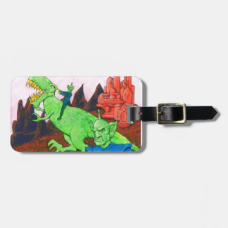 Martians and T-Rex Luggage Tag