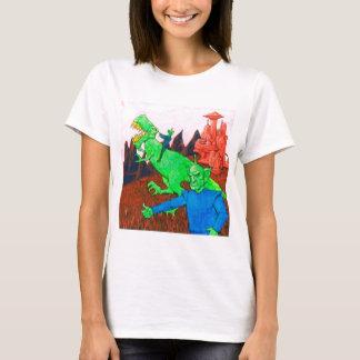 Martians and T-Rex T-Shirt