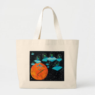 Martians are Angry Large Tote Bag