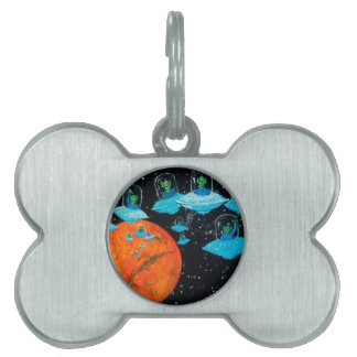 Martians are Angry Pet ID Tag
