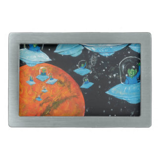 Martians are Angry Rectangular Belt Buckles