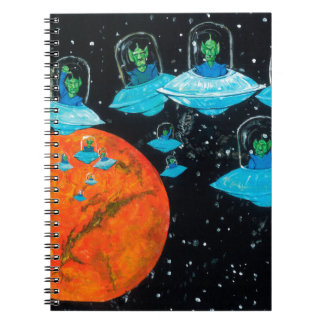 Martians are Angry Spiral Notebook