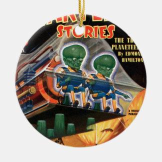 Martians Go For a Ride Ceramic Ornament