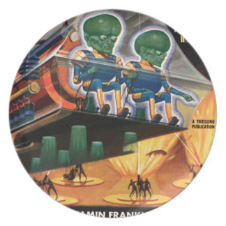 Martians Go For a Ride Plate