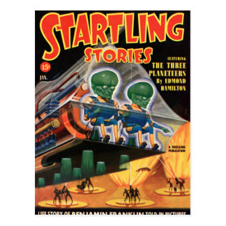 Martians Go For a Ride Postcard
