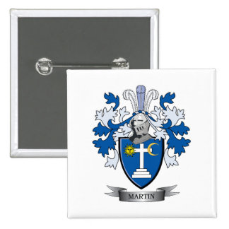 Martin Coat of Arms 2 Inch Square Button