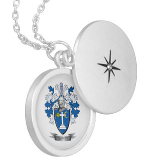 Martin Coat of Arms Locket Necklace