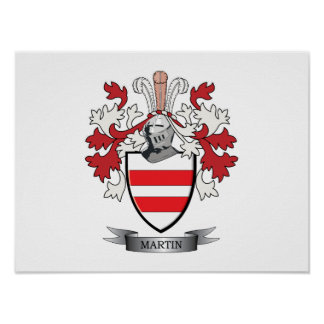 Martin Coat of Arms Poster
