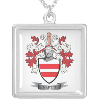 Martin Coat of Arms Silver Plated Necklace