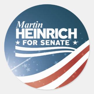 Martin Heinrich for Senate Classic Round Sticker