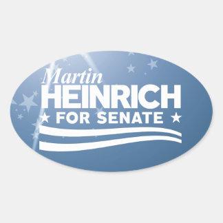Martin Heinrich for Senate Oval Sticker