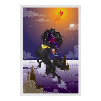Martin Hsu - Blackie Fireball Print