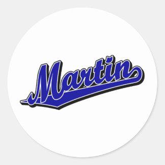 Martin in Blue Classic Round Sticker
