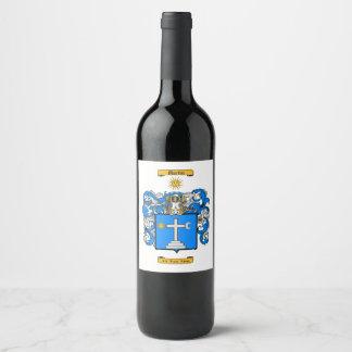 Martin (Irish) Wine Label