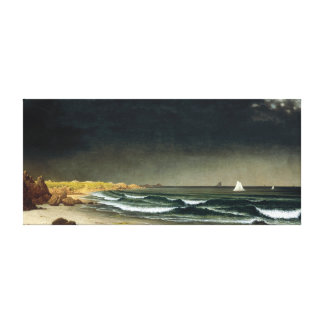 Martin Johnson Heade Approaching Storm Beach Canvas Print