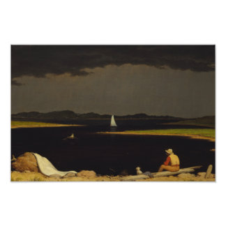 Martin Johnson Heade - Approaching Thunderstorm Poster