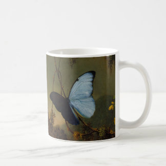Martin Johnson Heade -Blue Morpho Butterfly. Basic White Mug