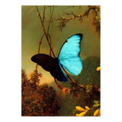Martin Johnson Heade Blue Morpho Butterfly Business Card