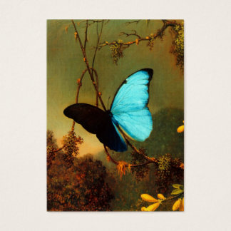 Martin Johnson Heade Blue Morpho Butterfly Business Card