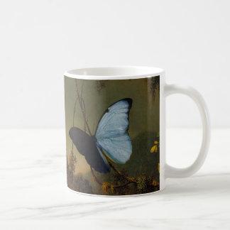 Martin Johnson Heade -Blue Morpho Butterfly. Classic White Coffee Mug