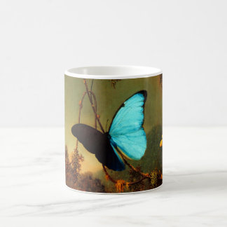 Martin Johnson Heade Blue Morpho Butterfly Coffee Mug