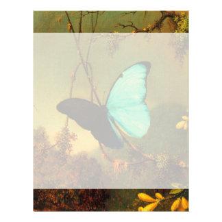 Martin Johnson Heade Blue Morpho Butterfly Customized Letterhead