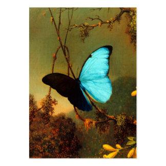 Martin Johnson Heade Blue Morpho Butterfly Large Business Card
