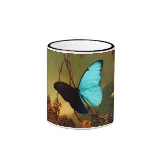 Martin Johnson Heade Blue Morpho Butterfly Ringer Coffee Mug