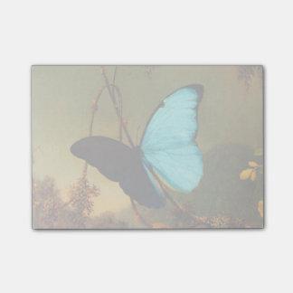 Martin Johnson Heade Blue Morpho Butterfly Sticky Note