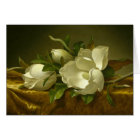 Martin Johnson Heade - Magnolias on Gold Velvet Card