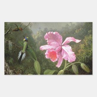Martin Johnson Heade Orchid And Hummingbirds