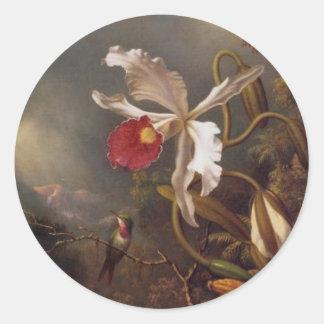 Martin Johnson Heade Orchid Round Sticker