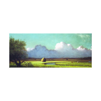 Martin Johnson Heade Sunlight Shadow Newbury Marsh Canvas Print