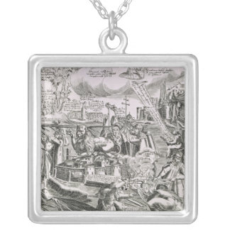 Martin Luther 2 Silver Plated Necklace