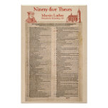 Martin Luther 95 Theses (original Latin) Poster