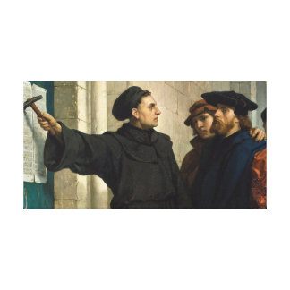 Martin Luther 95 Thesis Canvas Print