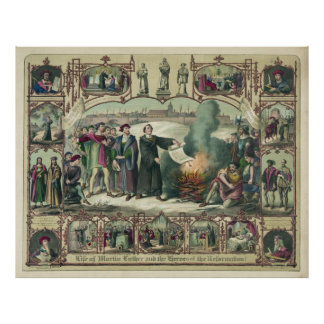 Martin Luther and heroes of the reformation [1874] Poster