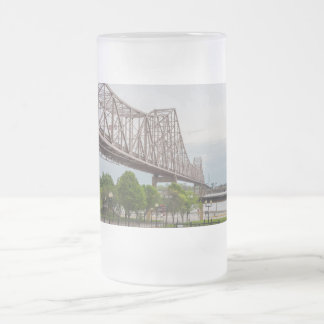 Martin Luther Bridge Frosted Glass Beer Mug